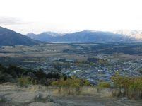 Albert Town and distant Lake Hawea